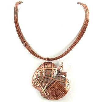 Brown Apple Pendant on quality cords