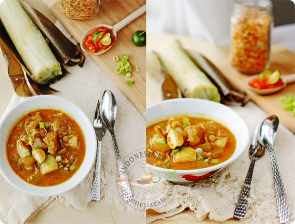 Lontong Kikil Recipe (Surabaya Beef Tendon Soup with Rice Cakes) #beef #indonesianfood