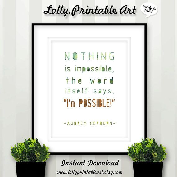 I'm Possible Instant Download Printable Art by LollyPrintableArt