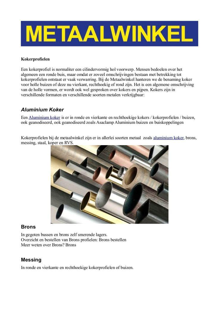 aluminium-koker by Patrick Metaalwinkel via Slideshare
