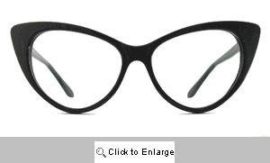 Kat Clear Lens Glasses - 177 Black