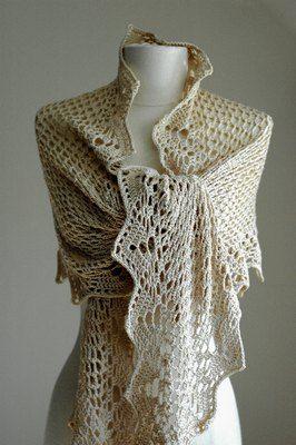 Japanese crochet shawl. Free chart to follow.