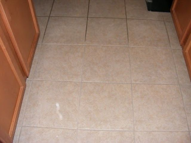 Clean grout w the following recipe: 7 cups water, 1/2 cup baking soda, 1/3 ammonia and 1/4 vinegar... spray on and leave for an hour or two!
