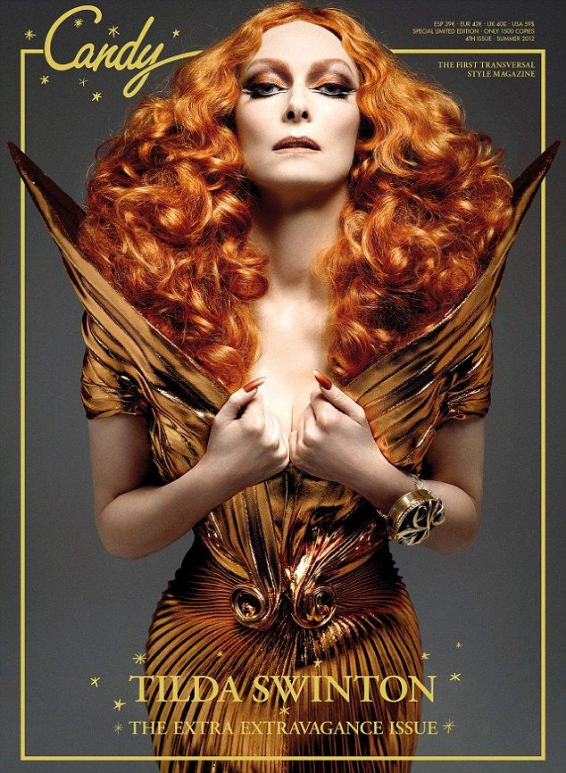 Tilda Swinton channels her inner drag queen for the fourth issue of Candy Magazine