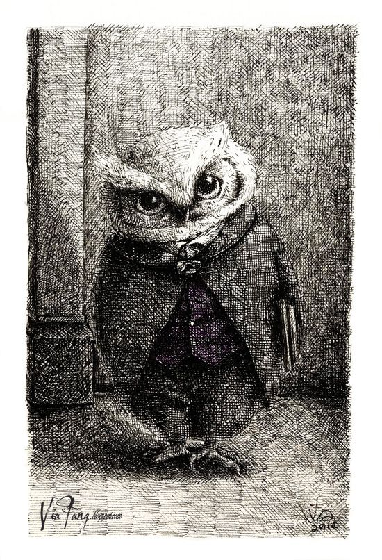 Via Fang Illustration: [Animalbum] The Owls