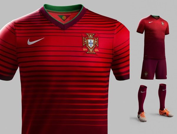 Portugal's World Cup jerseys.