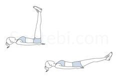 Adding the straight leg raise to your workout routine helps to increase the strength and definition of your abs and also improves your overall flexibility and stability. http://www.spotebi.com/exercise-guide/straight-leg-raise/