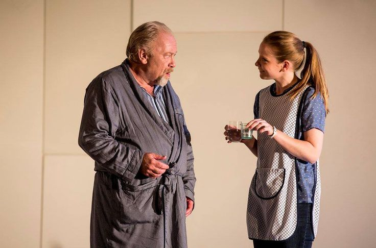 Owen Roe and Sophie Robinson in The Father by Florian Zeller in a translation by Christopher Hampton.  Picture by Pat Redmond
