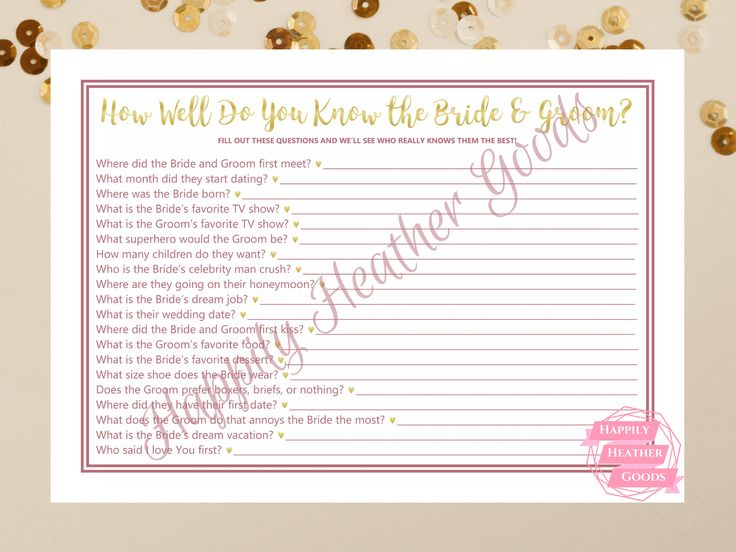 Best 25+ Bridal Shower Questions Ideas On Pinterest