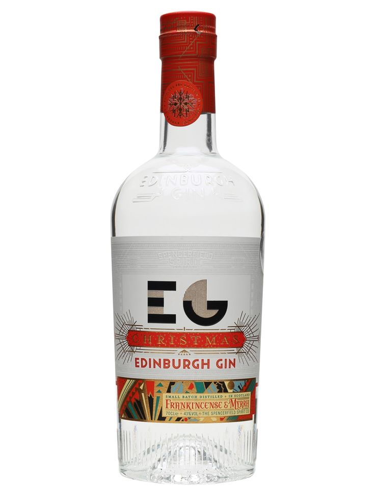 Edinburgh Gin Christmas Edition: made with festive botanicals including frankincense, myrrh, nutmeg and sweet orange. Great in a G&T or in a Negroni, where sweet myrrh perfectly complements bitter Campari.