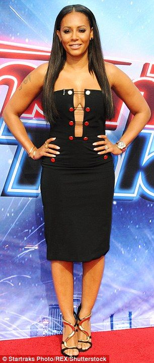 Fashion fans: Mel B and Heidi Klum showed their talent for style on Thursday during a kick off event for America's Got Talent in Pasadena, California