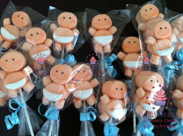 Marshmallow+Pops+for+Baby+Shower | BOY BABY SHOWER MARSHMALLOW POP FAVORS