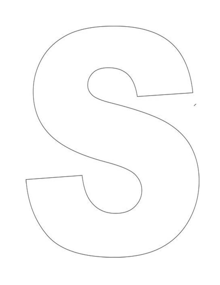 Printable Letter S Template! Letter S Templates are perfect for