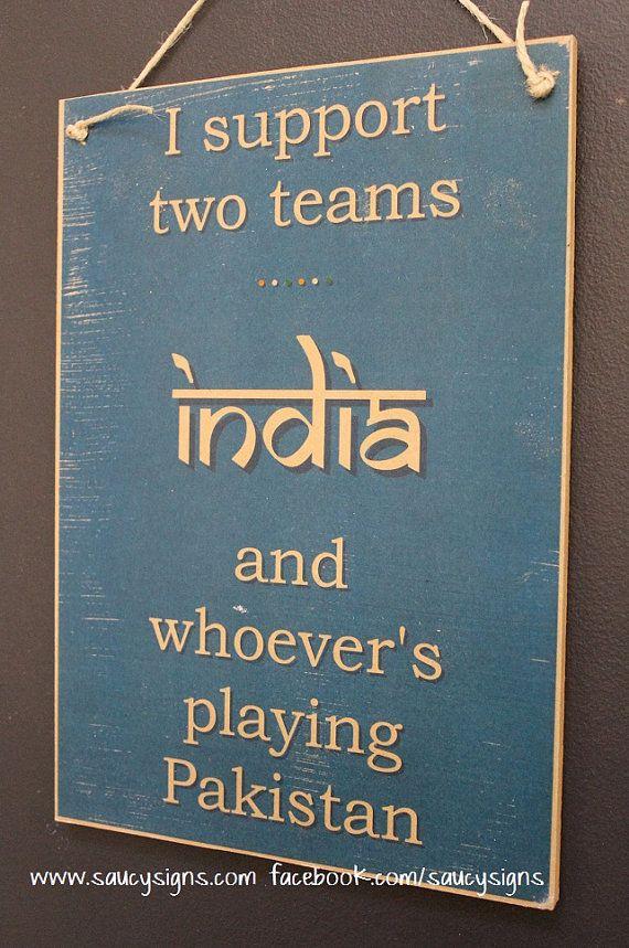 Indian Cricket Sign India versus Pakistan Test One Day IPL T20