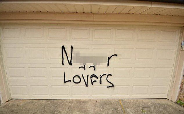 Man Set His and Wife's Cars on Fire, Painted 'Ni**er Lovers' THIS IS HOW LOW AND DIRTY TRUMPS VOTERS ARE! on Garage in Fake Hate Crime