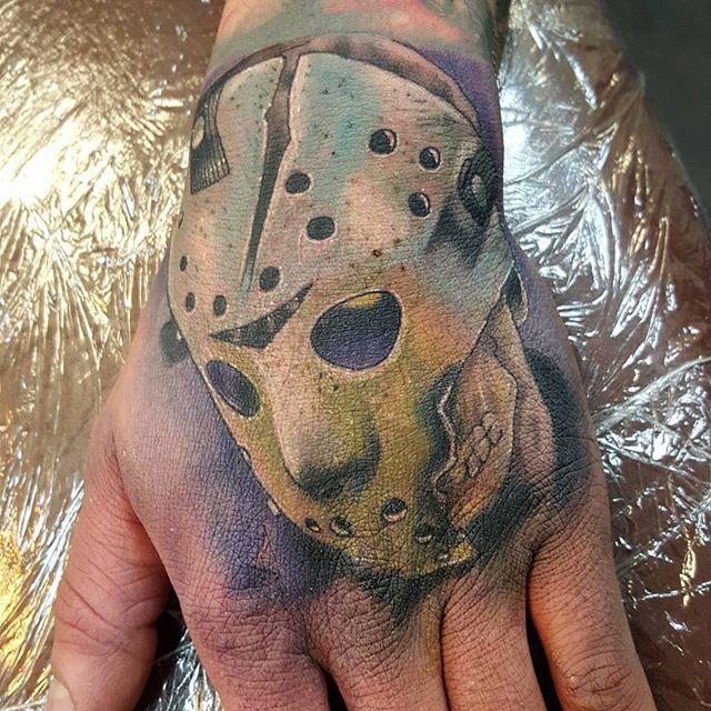 #Repost @trioxin_gallery ・・・ Tattoo by @sjard245   #jason #jasonvorhees #friday13th #trioxin #tattoos #ffm #handtattoo #ink #jasontattoo #movietattoo #friday13thtattoo #inked #handtattoo #colortattoo #tattoo #colortattoos #horrormovie #horror #art #germantattooers #tattooart #tattoofrankfurt #frankfurttattoo #swashdrive #RestlessNeedles #trioxingallery #frankfurt  www.facebook.com/trioxingallery  WWW.TRIOXIN.NET