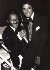 Two great music legends: Chuck Berry and Michael Jackson.