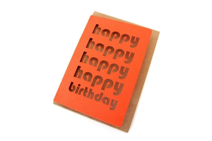 Happy Happy Happy birthday Card by simpleintrigue