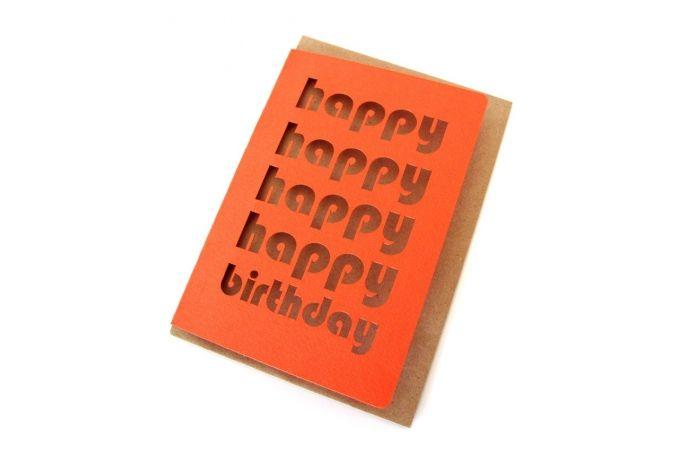 Happy Happy Happy birthday Card by simpleintrigue