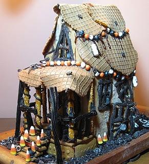 A Halloween Gingerbread House