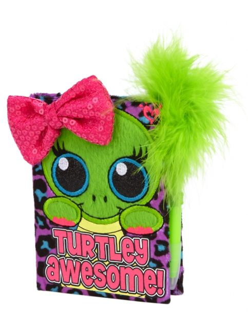 Justice Toys For Girls : Mini plush turtle diary girls journals writing room