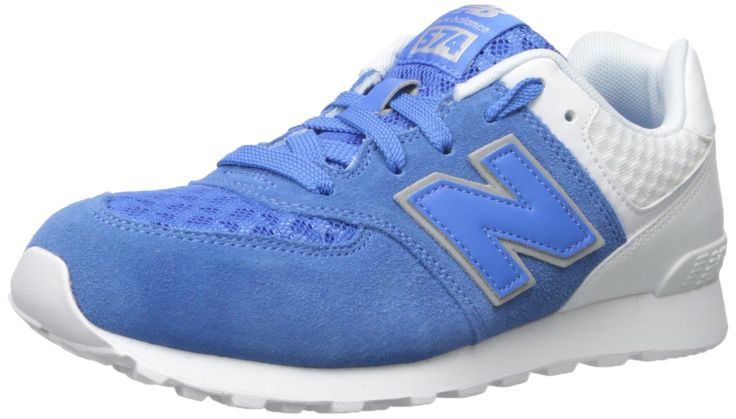 New Balance KL574V1 Grade Breathe Pack Fashion Sneaker (Big Kid), Blue/Grey, 4.5 W US Big Kid. Ethylene vinyl acetate midsole and heel. Thermoplastic polyurethane heel clip.