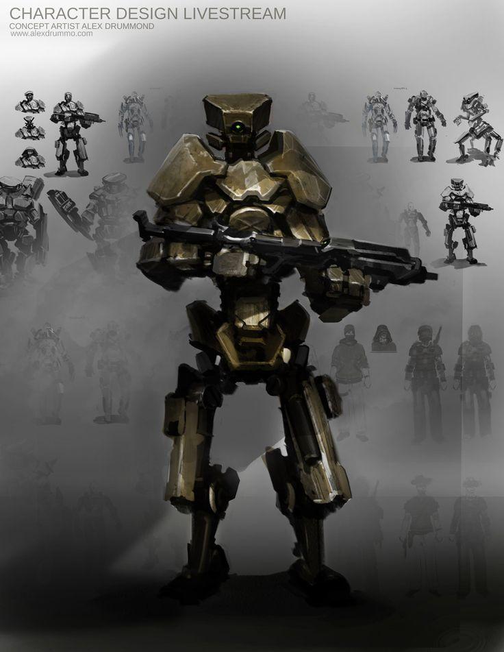 concept robots: Combat bot MK1 by Alex Drummond