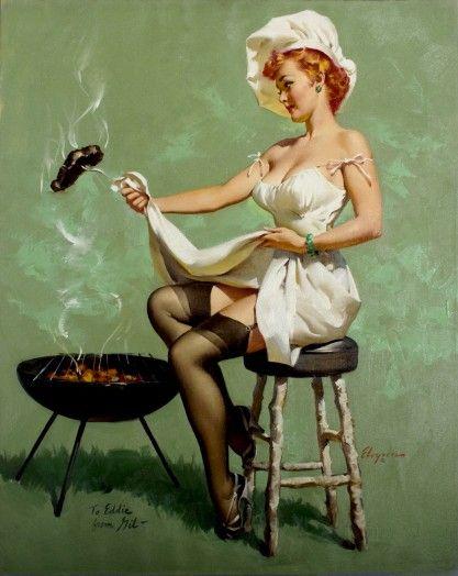 A Lot At Steak. Artist: Gil Elvgren, 1955