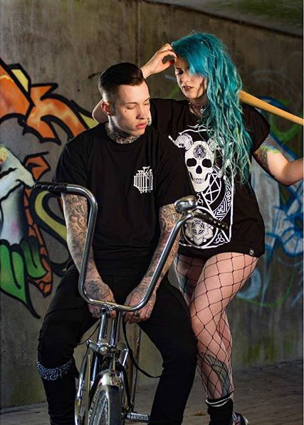 """Monogram"" Tee & ""Murderous"" Women's Tee available at www.crmc-clothing.co.uk 