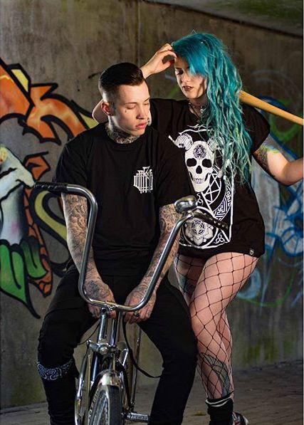 """Monogram"" Tee & ""Murderous"" Women's Tee available at www.crmc-clothing.co.uk | WE SHIP WORLDWIDE Models - @ryan_davieshall & @cybermaikitten Photography by @photoanarchy  #apparel #streetwear #streetfashion #alternativeguy #fashionista #fashionstatement #fashionofinstagram #alternativeteen #alternativegirl #alternativeboy #fashiongram #instafashion #fashionaddict #menwithtattoos #tattoooedmen #guyswithtattoos #tattoos #picoftheday #dailyfashion #tattooedwomen #instagood #alternative"