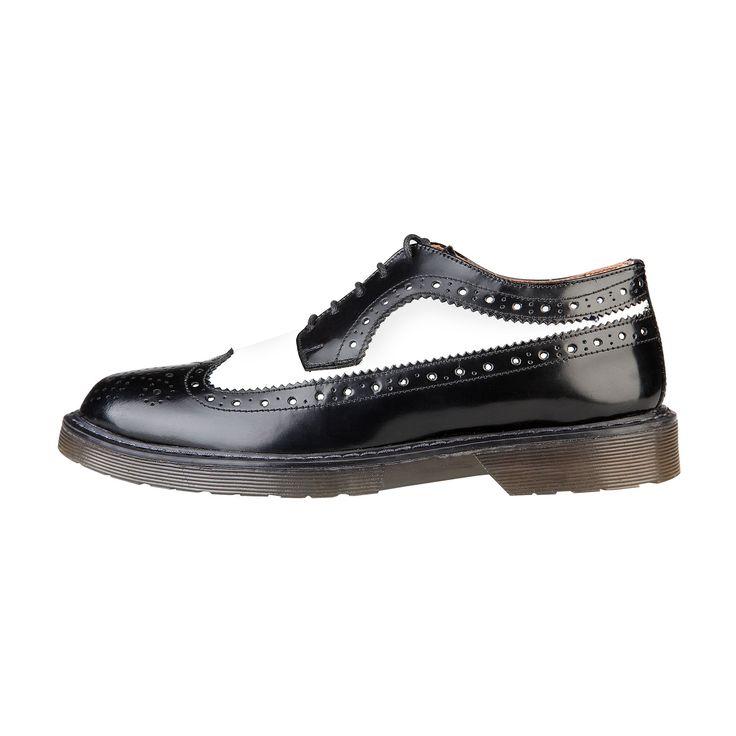 Scarpe da donna Ana Lublin. Stringate, bicolore Black&White. Punta traforata.  100% vera pelle. http://www.nandida.com/1414728816-50296-elsa-ana-lublin-elsa-nero-bianco.html