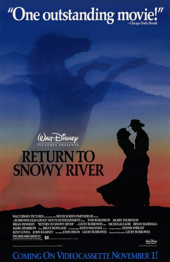 Return to Snowy River , starring Tom Burlinson, Sigrid Thornton, Brian Dennehy, Nicholas Eadie. Young Jim Craig returns to his home in the Australian high country. He finds that things are not as he left them - his girlfriend is being pursued by another man, and her father doesn't want Jim back into her life. #Adventure #Drama #Western