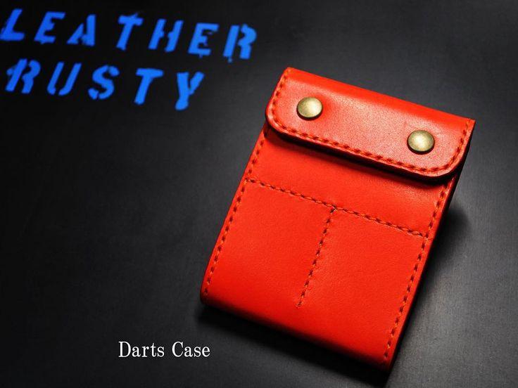 ダーツケース #leatherrusty#革小物#レザークラフト#革#レザー#ハンドクラフト#手縫い#革細工#leather#handcraft#革工房#ダーツケース