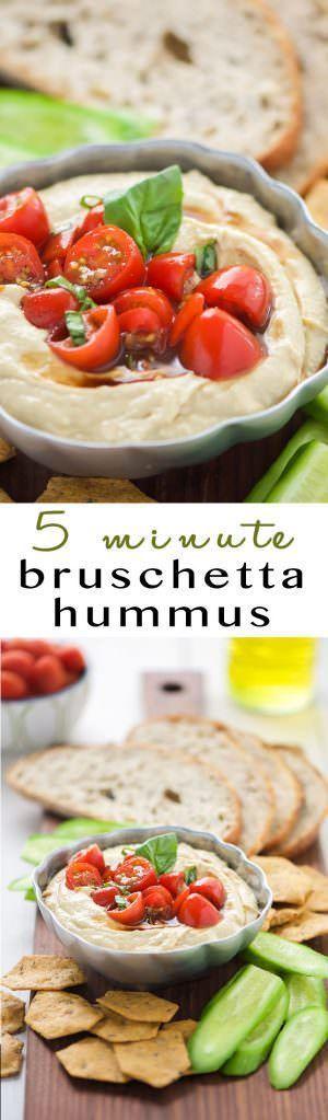 5 Minute Bruschetta Hummus