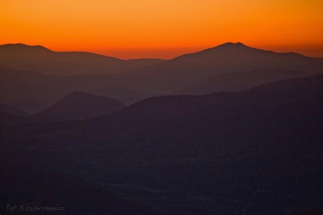 Sunset in Bieszczady