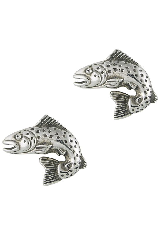 Shop Pinto Ranch Trout Silver Cufflinks at pintoranch.com. Enjoy FREE Shipping over $100.