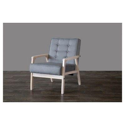 Mid-Century Timor Club Chair Gray - Baxton Studio