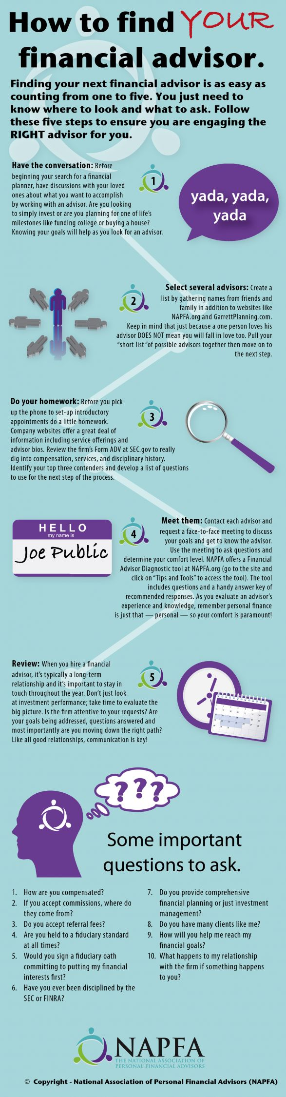 Best 25 personal financial planner ideas on pinterest project how to find your personal financial advisor infographic xflitez Gallery