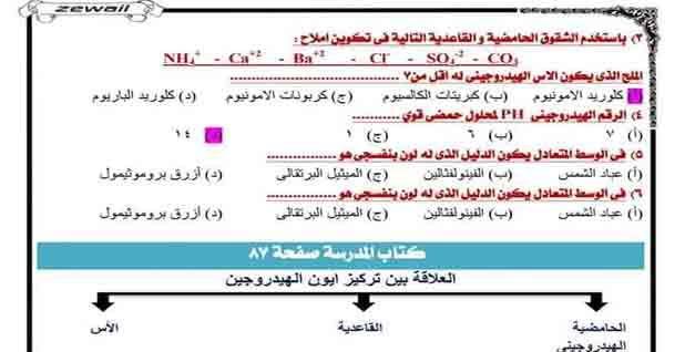 الاسئلة المتوقعة لمراجعة كيمياء الصف الأول الثانوى ترم أول 2020 مراجعة ليلة الامتحان In 2020 Chemistry Secondary Class