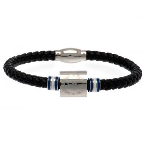 Chelsea FC Colour Ring Leather Bracelet   CFC Merchandise   Gifts Shop