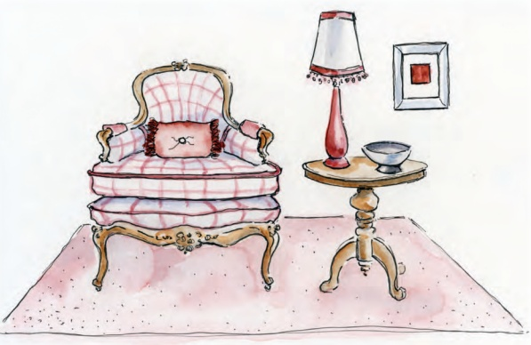 Illustration from: Dancing with Design, A Step-by-Step on How to Create a Unique Home