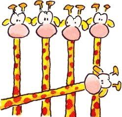 Turven met giraffen. Leendert jan vis