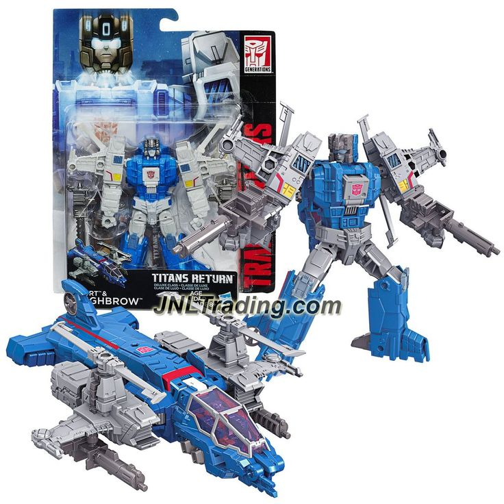 Hasbro Year 2015 Transformers Titans Return Series 5-1/2 Inch Tall Figure - XORT & HIGHBROW with Blasters & Card (Vehicle Mode: Helicopter)