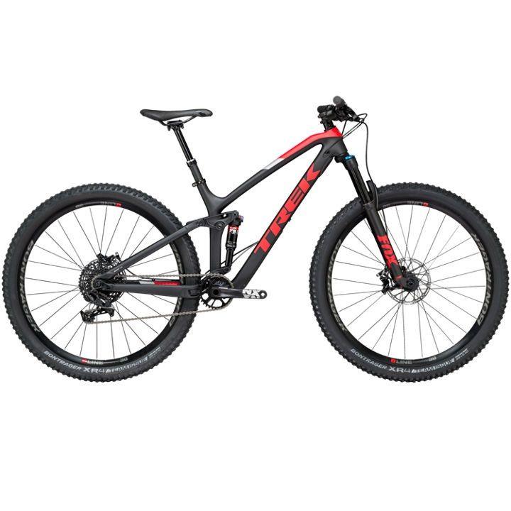 Trek 2018 Fuel Ex 9 7 29 Full Suspension Mountain Bike Black Bike Deals Bike Mountain Biking