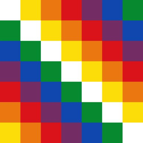 The Wiphala, flag of people native to the Andes and variant flag of Bolivia