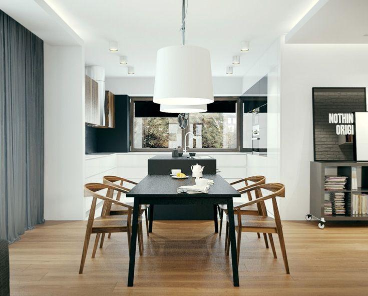 Moderne Grote Eettafel.Grote Moderne Hanglampen Boven De Eettafel Keuken Klaasje