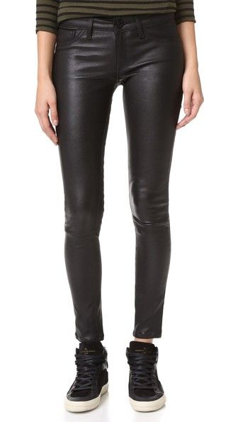 DL1961 Emma Power Legging Leather & Coated Jeans