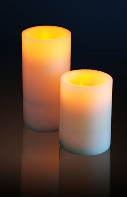 Flicker Flame Electronic Real Wax LED Candle with Blow On and Off Function - Large - £7.95