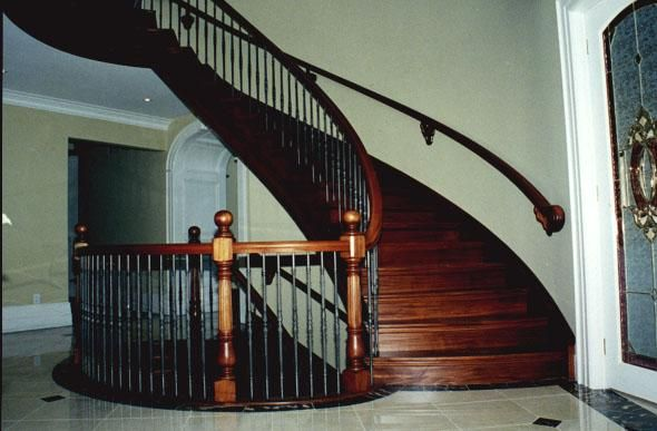 Acrylic Stair Railings Black Cherry Staircase With Paint