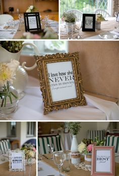 Groom writes his favorite things about the bride, print them, and frame them! AWESOME idea! Real Bridal Shower: Rustic Coral